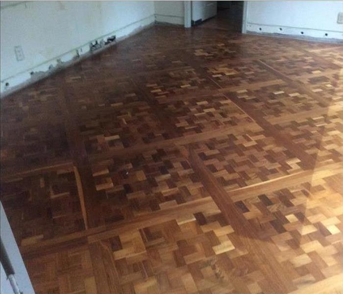 Water Damage Hardwood floor dry out with Dri-Eaz floor drying systems