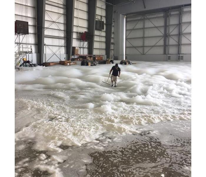 Commercial Airport Hanger Foam Suppression System Malfunction